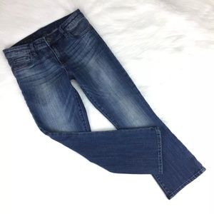 Kut From The Kloth Size 6 Reese Crop Flare Jeans